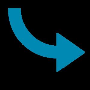 Seta azul semicurva direcionada para o link do Vídeo Conexão PcD.