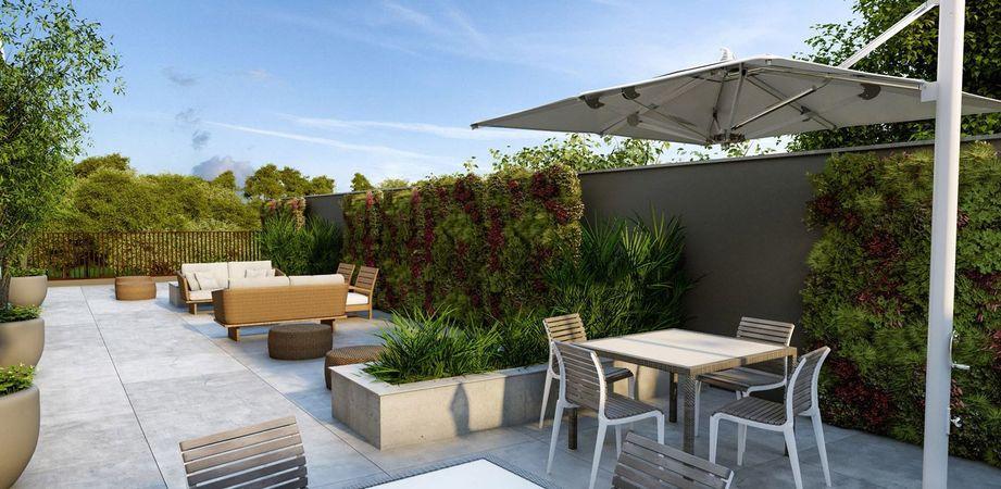 Terraço garden do empreendimento Montblanc da contrutora de alto padrão Zuckhan