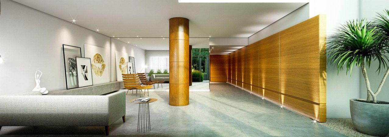 Imagem ilustrativa do Hall de entrada do empreendimento Match da construtora Zuckhan.