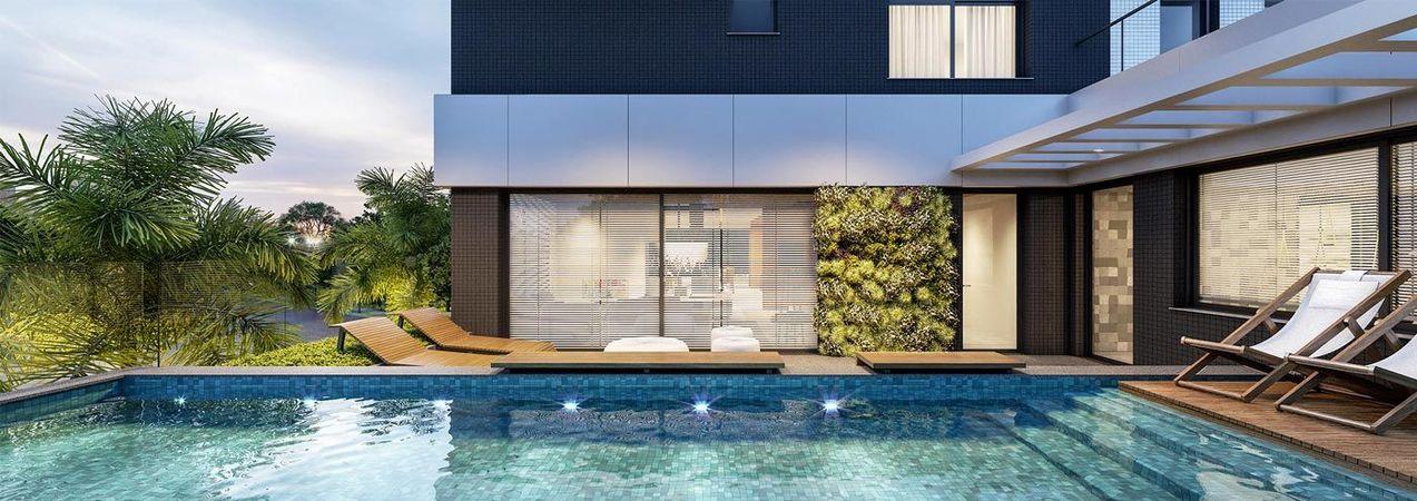 Imagem ilustrativa do piscina do empreendimento Match da construtora Zuckhan.