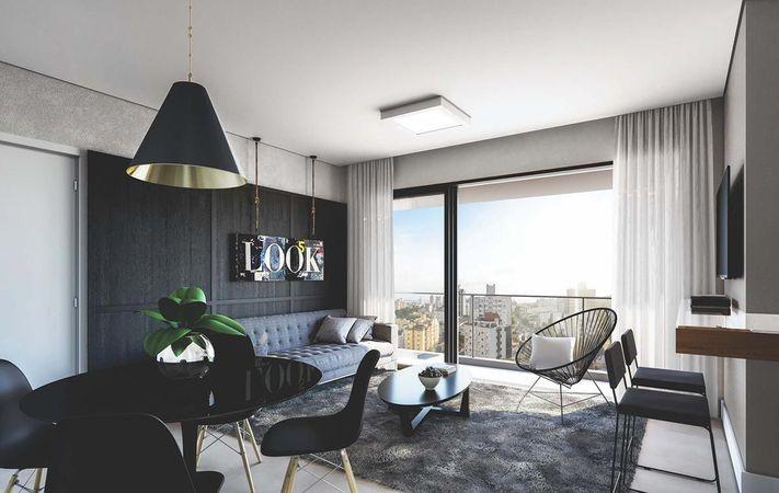 Living com sacada do apartamento de 2 dormitórios final 02