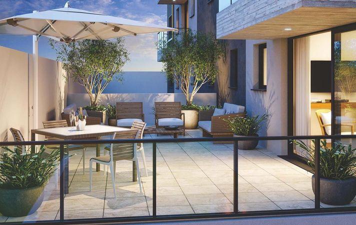 Terraço do apartamento garden 301